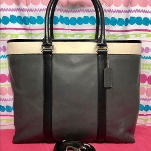 COACH LEATHER BUSINESS TOTE